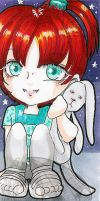 Traditional Small Bookmark Alice by kuroitenshi13