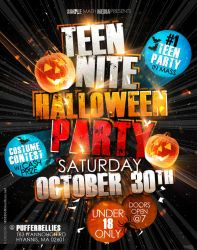 Teen Nite Halloween Flyer by AnotherBcreation