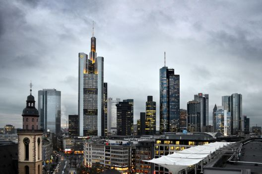 Frankfurt Skyline by suffer1