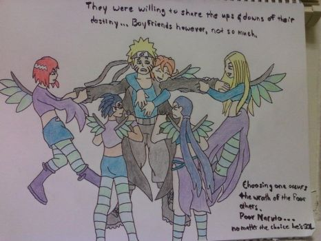 Naruto x W.I.T.C.H. commission, by Dragonrider626 by TheRealKyuubi16