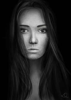 Portrait in black and white by Kenora2794