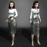 BioShock Infinite Burial at Sea Elizabeth Damaged by ArmachamCorp