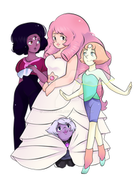 The Crystal Gems by MeloPearl