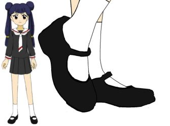 Meiling in Mary Janes by BrendyFlatsMJFF