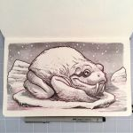 Inktober Day 23 - ARCTIC FROG by D-MAC