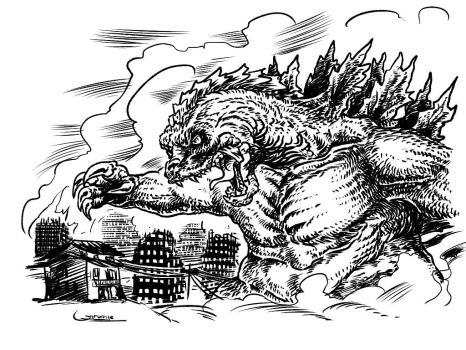 Gojira Inktober15 by Sgrum