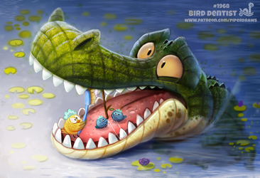 Daily Paint 1968# Bird Dentist by Cryptid-Creations