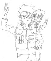Naruto and Kakashi by abbott38
