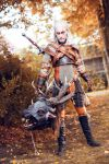 Geralt of Riva with Bies trophy by hizsi