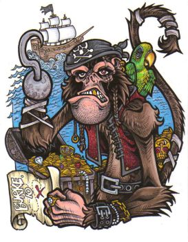 Pirate Monkey by Burke73