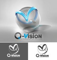 Q vision logo photoshop by ahmedsary