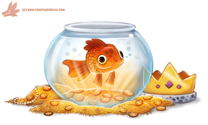Daily Paint #1138. Goldfish by Cryptid-Creations