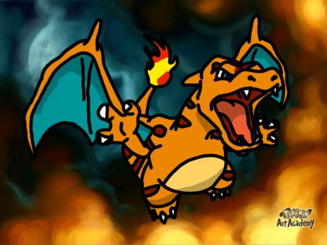 Charizard clone pokemon art academy by mgunnels3