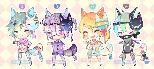 [CLOSED] Set Price Adopts: Forcats 11-14 by ToasterKiwi