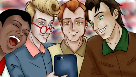 Ghostbusters taking a selfie by lenoremarcus