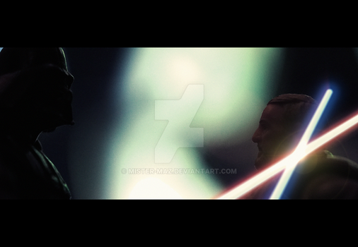 A New Hope lightsaber duel by mister-maz