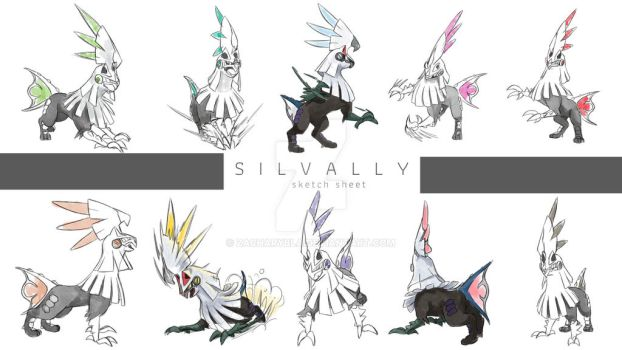 COMMISSION SILVALLY sketch sheet by zacharybla
