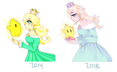 Art redraw - Rosalina by Cyborgbird