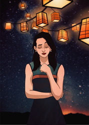 Lanterns and Sky by Tom-the-S
