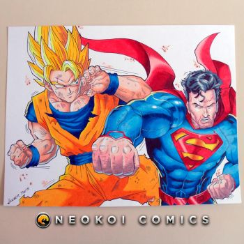 Goku vs. Superman by Neokoi
