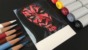 Darth Maul sketchagraph by BikerScout