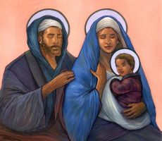 The Holy Family by silentsketcher