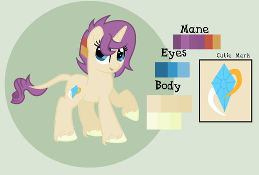 Gleaming Gem (Rarity x Sunburst) Adaptable by theponygaming