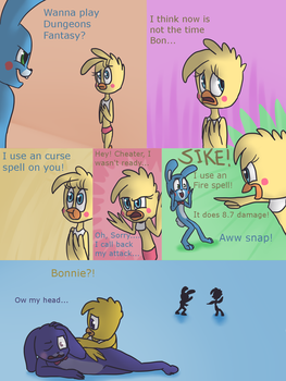 Fnaf silly comic - Foxys Pride part 22 by Maria-Ben