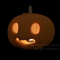 Spooky Pumpkin Friend by RaptorBricks