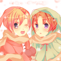 Rabbits in winter by biidama