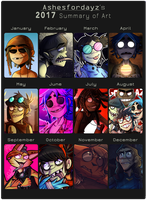 2017 Summary Of Art by Ashesfordayz
