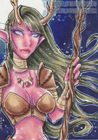 Ivy Night Elf Druid ACEO by shidonii