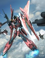 Saviour Gundam: Imperfect by sandrum