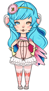 Another Gaia chibi by cheezkake1129