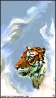 tiger in the smoke by BASSETSKETCH