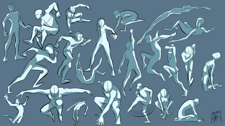Action Poses 1 by hehm