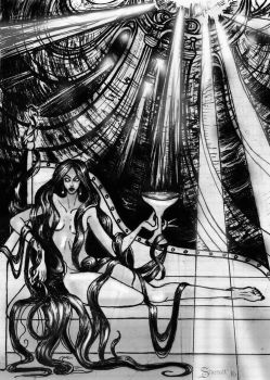 Tarot: Queen of Cups by Sheralt