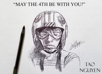 Tao Nguyen's May the 4th Pen Sketch by TaoNguyenArts