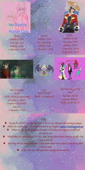 Updated Commission Prices by DragonArtzStudio