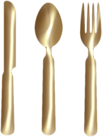 Knife Fork Spoon Gold Png Clipart by clipartcotttage