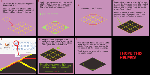 Circular Object Tutorial V.2 (Isometric Edition) by Kingfisher-Gryphon