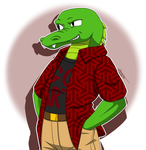 [ArtTrade] Andre Tiberius Woodz the Alligator by aggieandco