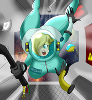 Comission: Spaced Rosalina reloaded by QuakeBrothers