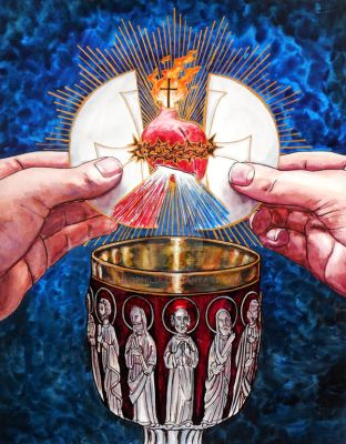 The Eucharistic Heart of Jesus by Theophilia