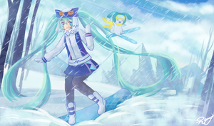Snow Miku 2016 by usaRemy
