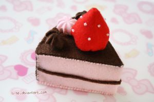 Chocolate Strawberry Cake by li-sa