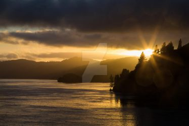 Sunrise on Queen Charlotte Sound by pourquoipas