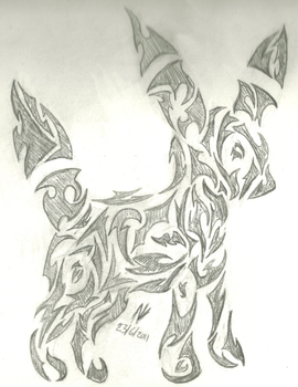 Umbreon Tribal by md427
