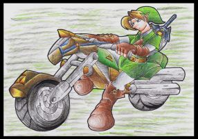 Link And Epona Motor Bike. by Virus-20