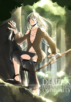Demian in forest by underpantz27